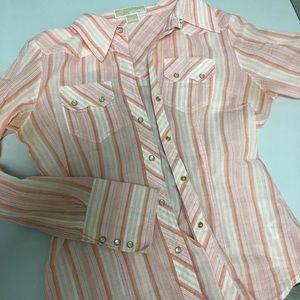 Michale Kors pearl snap cotton shirt
